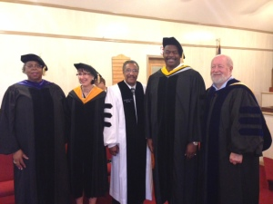 Tom Hill [Second from Right]. Doctoral Graduation 2014