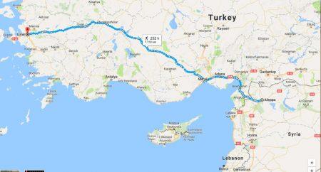 Syria to Izmir